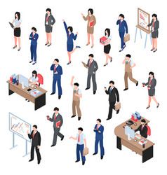 men and women business set vector image vector image