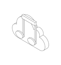 Musical notes icon isometric 3d style vector image vector image