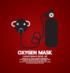 Oxygen Mask With Tank vector image