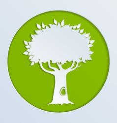 tree green paper vector image
