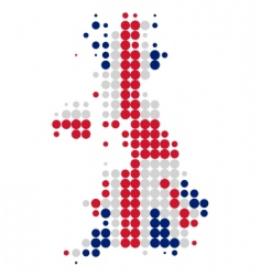 Great Britain map and flag vector image vector image