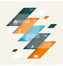 Modern step origami style options banner vector image vector image