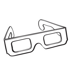 stereoscopic 3d glasses in black plastic frame vector image vector image