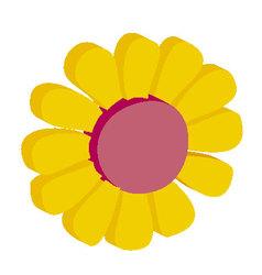 3d flower vector