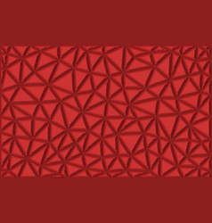 abstract triangular background of red color vector image