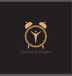 alarm clock logo design vector image