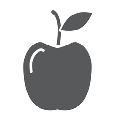 apple glyph icon food and meal fruit sign vector image