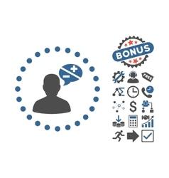 Arguments Flat Icon With Bonus vector