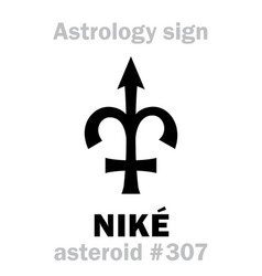 Astrology asteroid nik vector