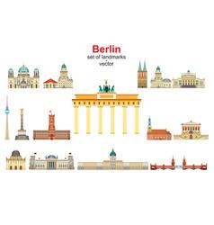 berlin skyline 1 vector image