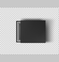 black empty box mock up on transparent background vector image