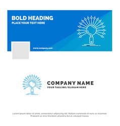 Blue business logo template for data information vector