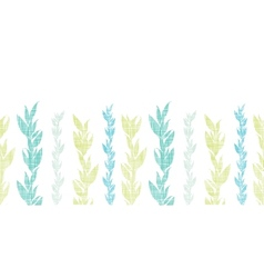 Blue green seaweed vines horizontal seamless vector