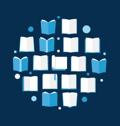 books flat reading books vector image