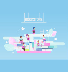 Bookstore advertising vector