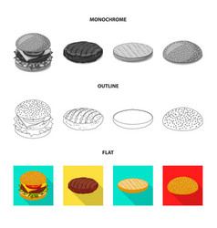Burger and sandwich icon vector