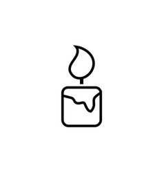 candle icon design template isolated vector image