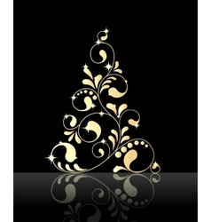 christmas black background vector image