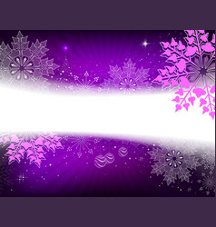 Christmas dark purple design with a small tree vector