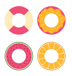 circle for swimming simple icon set vector image