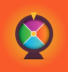 Colorful gambling game fortune wheel vector
