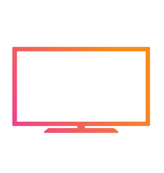 colorful gradient pink to orange oled black flat vector image