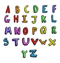 Comic cartoon alphabet vector
