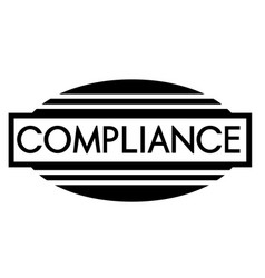 Compliance stamp on white vector