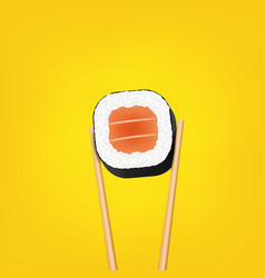 creative of chopsticks holding vector image