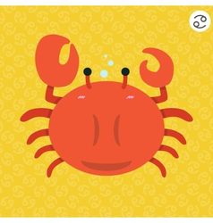 cute big fat cancer zodiac cartoon vector image