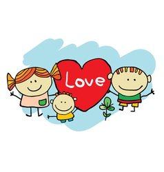 Cute cartoon kids vector image