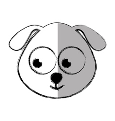 Cute dog tender isolated icon vector