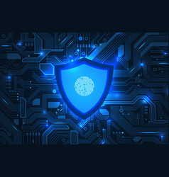 cyber security online information protect vector image