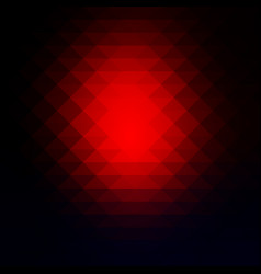 Deep blue and red rows of triangles background vector