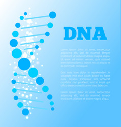 dna poster of blue color vector image