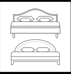 double beds - furniture for bedroom vector image