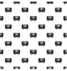 food trailer pattern vector image