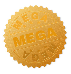 Gold mega award stamp vector