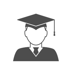 Graduate avatar icon vector