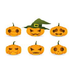 halloween cute pumpkin vector image
