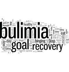 In bulimia recovery do you want to beat bulimia vector