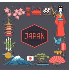 Japan frame design vector image