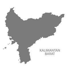 kalimantan barat indonesia map grey vector image