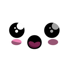 Kawaii cartoon face vector