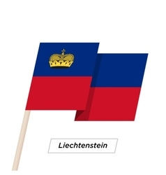 Liechtenstein Ribbon Waving Flag Isolated on White vector image