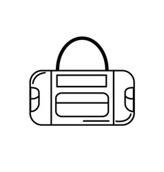 Line sport bag to save the clohes vector