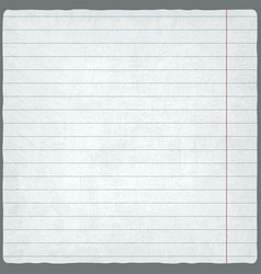 Lined paper blank design sheet vector