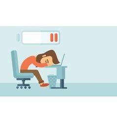 Lying tired employee vector image