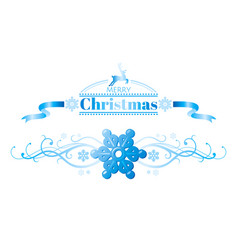 merry christmas holiday horizontal banner isolated vector image