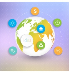 Modern Abstract 3D globes template infographic vector